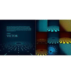 Set of ten abstract digital background template vector image