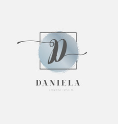 Simple elegant initial letter d logo type sign vector