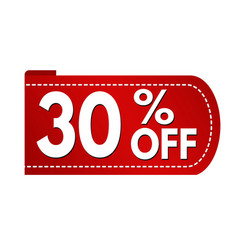 special offer 30 off banner design vector image