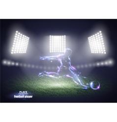 Stadium lights Motion design Football player vector image