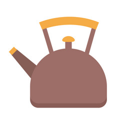teapot or kettle kitchen stuff for boiling water vector image