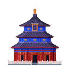 Temple heaven as famous city landmark and vector