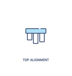 Top alignment concept 2 colored icon simple line vector