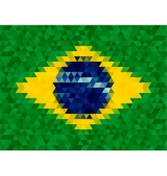 Triangle geometric background Brazil flag concept vector