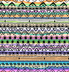 tribal stripe seamless print vector image