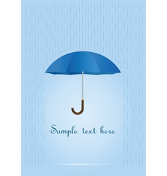 umbrella card vector image