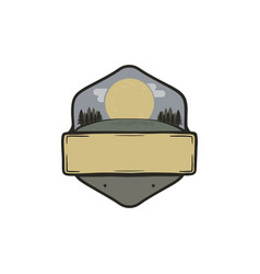 Vintage hand drawn national park badge patch vector