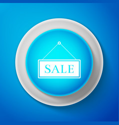 white hanging sign with text sale icon isolated vector image