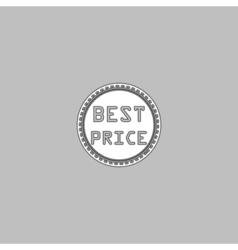 Best Price computer symbol vector image vector image