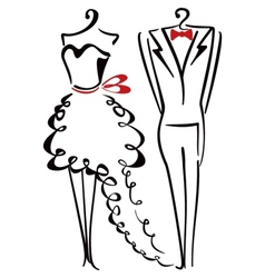 Elegance clothes vector image