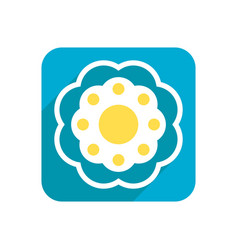 flower colored flat icon on a white background vector image vector image