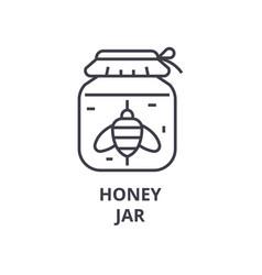 honey jar line icon outline sign linear symbol vector image vector image