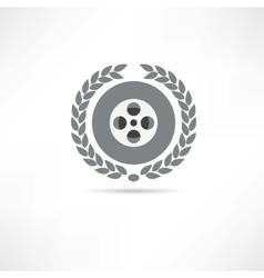 reel of film icon vector image vector image