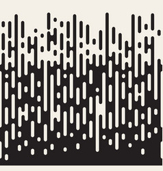 rounded lines seamless pattern black and white vector image