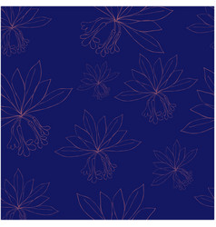 seamless pattern with rododendron flowers and vector image