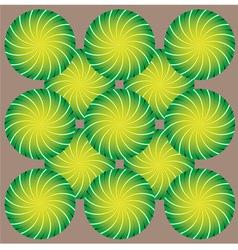 Abstract rotating shapes vector image