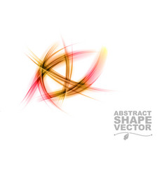 abstract shapes on white only red vector image vector image
