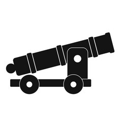 cannon icon simple style vector image