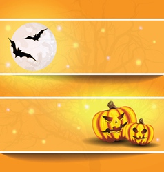 halloween background on the postcard vector image vector image