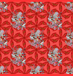 in asian textile style on colorful background vector image