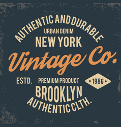 vintage typography for t shirt print new york vector image