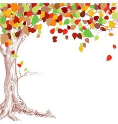 Autumn tree background vector