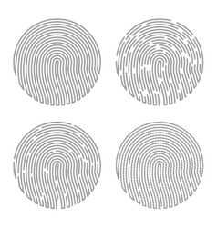 Black Isolated Fingerprint vector image vector image