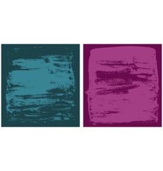 dark cyan and dark pink grunge textures vector image