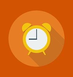 Education Flat Icon Clock vector image
