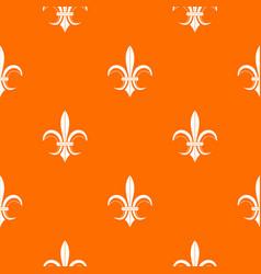 lily heraldic emblem pattern seamless vector image