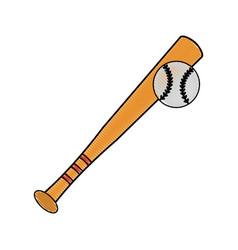 sport baseball bat vector image