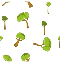 Types of trees pattern cartoon style vector image vector image