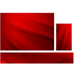 abstract red background with stripes set vector image