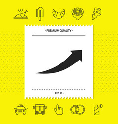 Arrow icon - up graphic elements for your design vector