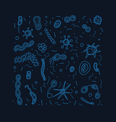 bacteria cells composition vector image