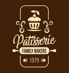 Bakery patisserie family bakers 1979 vector