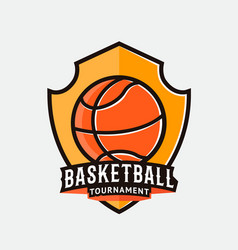 Basketball logo label badge emblem icon vector