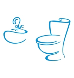 Bathroom symbols vector image