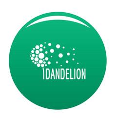 Beautiful dandelion logo icon green vector