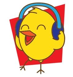 Bird Listening Music vector image