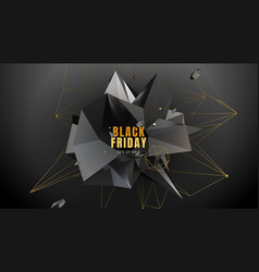 black friday sale abstract geometry background vector image