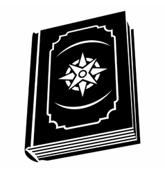 Book with eight-pointed star on the cover vector