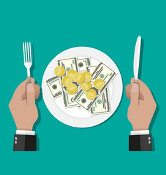 business lunch concept vector image