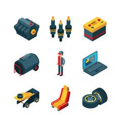 car parts auto shop automobile items transmission vector image