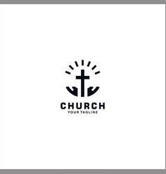 Church logo design template inspiration vector