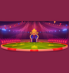 Circus arena round stage for performance vector