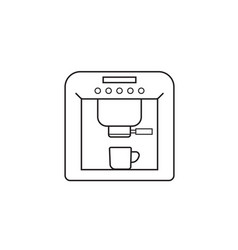 Coffee machine line icon outline vector