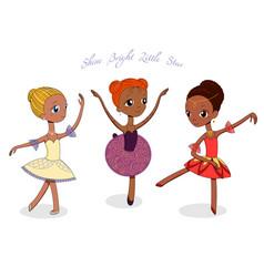 Cute little ballerinas vector
