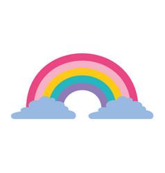 cute rainbow cloud magic fantasy image vector image