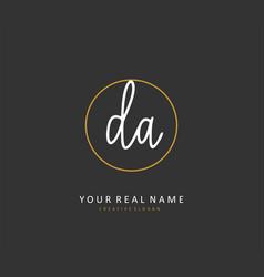 Da initial letter handwriting and signature logo vector